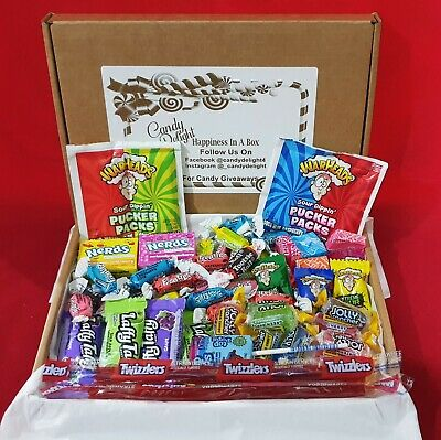 £7.99 • Buy American Sweets Mixed Candy Hamper Box Over 50 Pieces Jolly Rancher