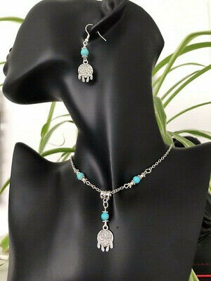 £4.95 • Buy Stunning Native American Pendant Necklace Earring Set