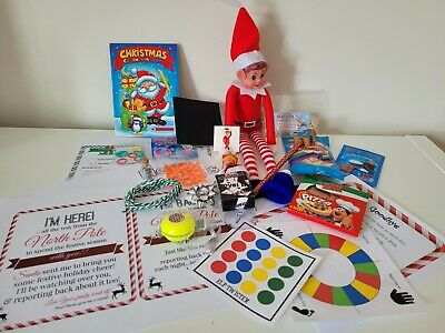 AU32.06 • Buy 24 Days Christmas Naughty Elf Accessories Activities Props Toys Game Ideas Pack