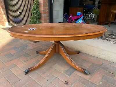 £60 • Buy Bradley Reproduction Large Yew Wood Coffee Table
