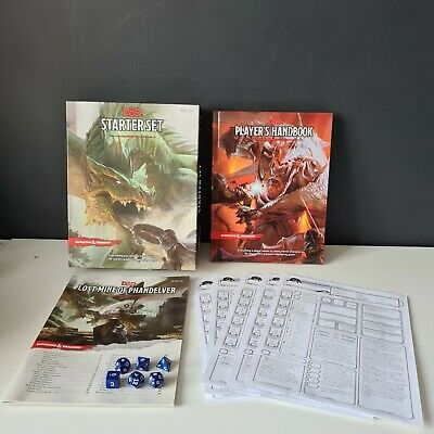 £37.99 • Buy Dungeons And Dragons Starter Set + Dungeons And Dragons Players Handbook Bundle