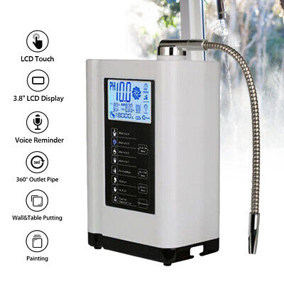 £244.54 • Buy Water Ionizer Purifier Machine Filter PH3.5-10.5 LCD Touch Home Washer Display.