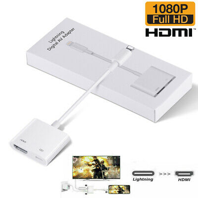 AU15.99 • Buy Digital AV TV Hdmi Adapter Cable For IPhone 11 SE2 XR XS MAX 8 IPad
