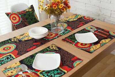 AU11.11 • Buy Vintage Sunflower Pattern Table Runner Rectangle Placemat Dining Tabletop Decor