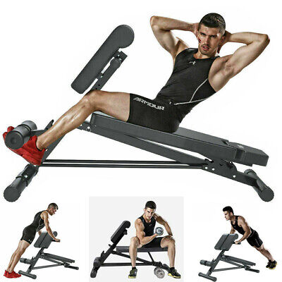 £65.95 • Buy Folding Back Hyper Extension Exercise Bench Hyperextension Fitness Roman Chair