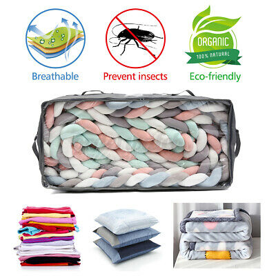 £7.99 • Buy Clothes Storage Bags Ziped Organizer Underbed Wardrobe Cube Closet Boxes UK
