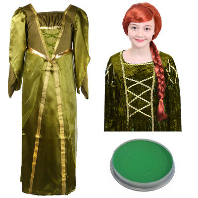 £14.99 • Buy Girls Ogre Princess Costume Kids Childs Outfit Fancy Dress Book Day Halloween