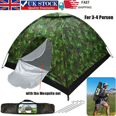 £23 • Buy 3 - 4 Person Camping Tent Waterproof Room Outdoor Hiking Backpack Fishing