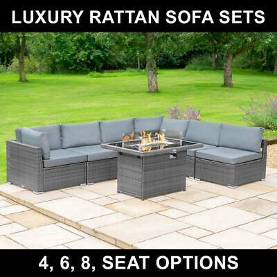 £1129.99 • Buy Harrier Rattan Garden Furniture Sets | 4/6/8-SEATER OPTIONS + FIRE PIT TABLE