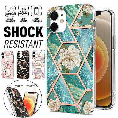 AU12.99 • Buy For IPhone 13 12 Mini 11 Pro Max XR XS SE 8/7 Plus Case Marble Shockproof Cover