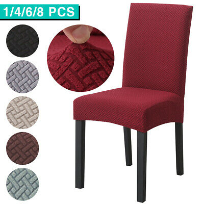 AU7.99 • Buy Dining Chair Cover Stretch Spandex Slipcover Thicker Protector Banquet Party NEW