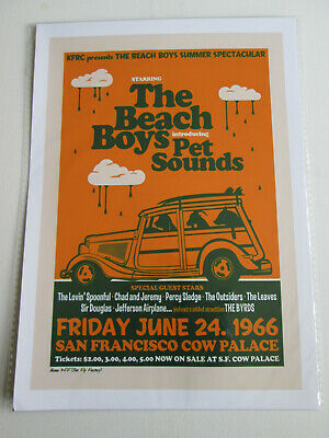 £3.99 • Buy The Beach Boys : Introducing Pet Sounds 1966 Cow Palace : A4 Glossy Repo Poster
