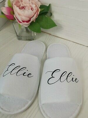 £3.99 • Buy Personalised Spa Slippers Special Occasion Bridal Party Bridesmaid Gifts