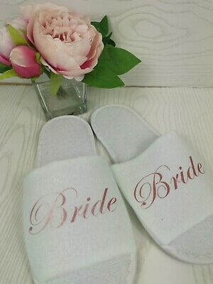 £3.75 • Buy Personalised Spa Slippers Wedding Party Bridesmaid Gifts Special Occasion