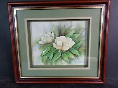 £6.99 • Buy Vintage Decoupage Picture Floral 3D By L Littler Shadow Box Wood Frame 1999