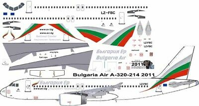 £7.26 • Buy Bulgaria Airbus A-320 Pointerdog7 Decals For Revell 1/144 Kit