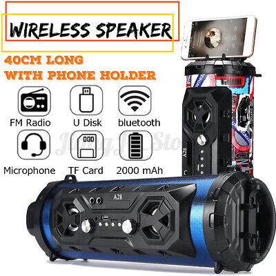 AU24.62 • Buy Portable Bluetooth Speakers Wireless Stereo Bass USB/TF/ Radio Subwoofer