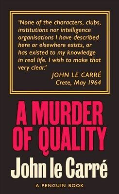 £7.41 • Buy A Murder Of Quality By John Le Carre 9780241330883 NEW Book