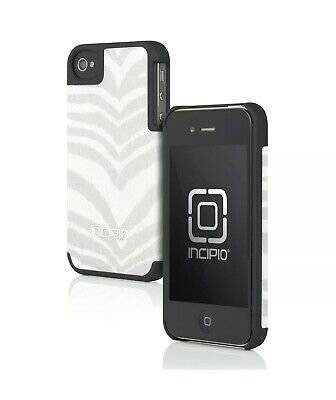 £4.56 • Buy Incipio Canvas Feather Pattern Fabric Case Cover For IPhone 4 4S - Gray/White
