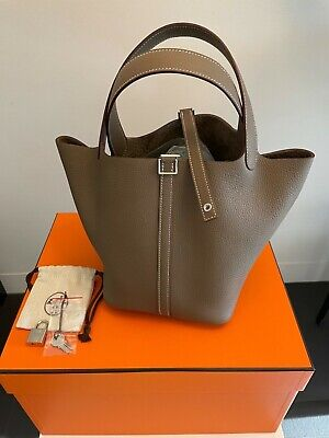 AU7500 • Buy Brand New Hermes Picotin 22, Etoupe, Stamp Z, Taurillon Clemence Leather,PHW