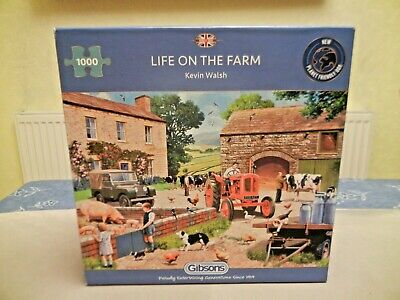 """£6 • Buy Gibsons """"Life On The Farm"""" 1000 Piece Jigsaw Puzzle By Kevin Walsh ** EXC **"""