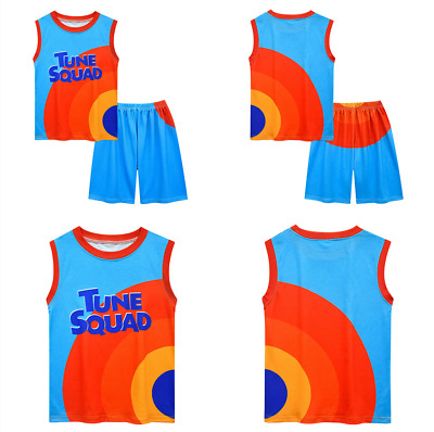 £10.66 • Buy 2Pcs Space Jam Basketball Costume Vest Shirt Tops Shorts Outfit Kids Gift New
