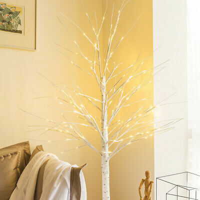 £15.99 • Buy White Adjustable Branches Twig Tree 60CM Christmas LED Lights Birch Decoration