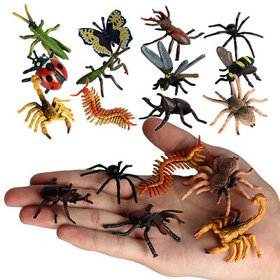 £7.68 • Buy 12PCS Realistic Bugs Action Figures Model Plastic Insects Set Bee Gift Kids Toys