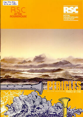 £5.65 • Buy PERICLES Prince Of Tyre RSC 2002 Roundhouse Theatre Programme Refb1208