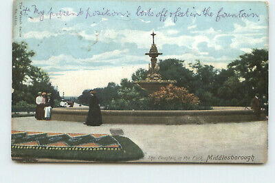 £3.99 • Buy Postcard The Fountain In The Park Middlesborough 1111 Printed Posted 1904 GR