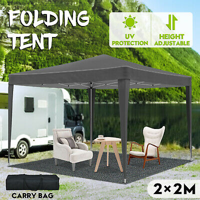 AU79.90 • Buy 2x2M Foldable Marquee Tent Pop Up Portable Gazebo Outdoor Camping Canopy Grey
