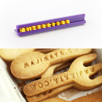 £5.99 • Buy Cookie Fondant Mould Alphabet Letter Cutters For Icing Baking Cake Sugarcraft