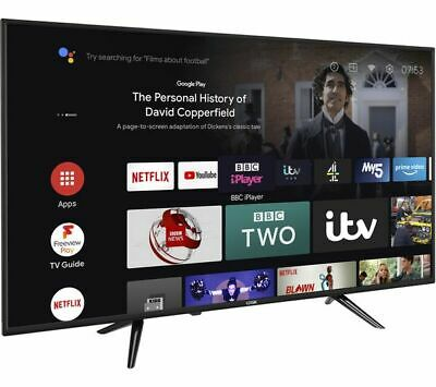 £224.99 • Buy LOGIK L43AUE21 Android TV 43  Smart 4K Ultra HD HDR LED TV With Google Assistant
