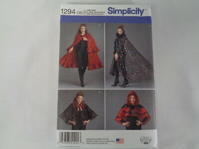£5.11 • Buy SIMPLICITY 1294  Misses Dickens Victorian Fantasy Cape Costume Sewing Pattern
