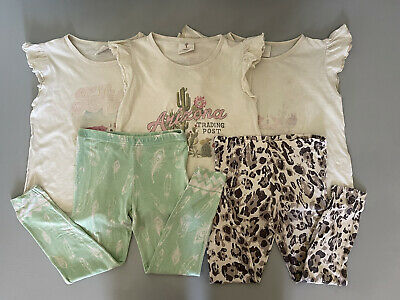 AU50 • Buy Spell Designs Little Gypsies Leggings And Tees Bundle With FAULTS Size 4-5 Years