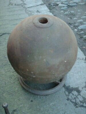£395 • Buy  Large Antique Rustic Iron Buoy / Ball / Water Feature  / Garden Ornament