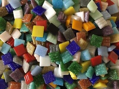 £4 • Buy 275 Vitreous Glass Mosaic 10mm Craft Tiles 20 Different Assorted Colours 185g