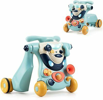 £42.99 • Buy 3 In 1 Baby Walker Sit To Stand Walker Ride On Car Game Panel Multifunction Blue