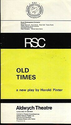 £2.80 • Buy 1970s RSC Old Times Aldwych Theatre Programme Colin Blakely Ref182
