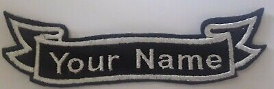 £4.50 • Buy Personalised Embroidered Ribbon Patch, Name, Felt, Iron-on / Sew-on