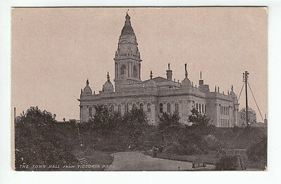 £1.50 • Buy Portsmouth Town Hall From Victoria Park Pre 1918 B&R Liverpool Old Postcard