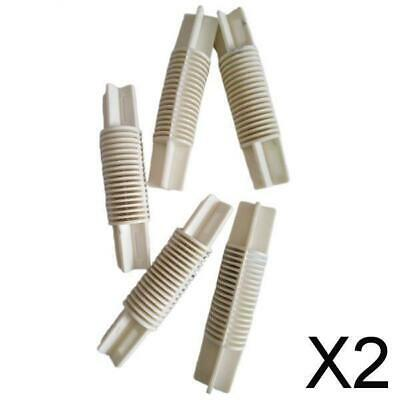 £8.06 • Buy 2X 5Pieces Corner Bay Window Curtain Pole Elbow Joint Connector  White