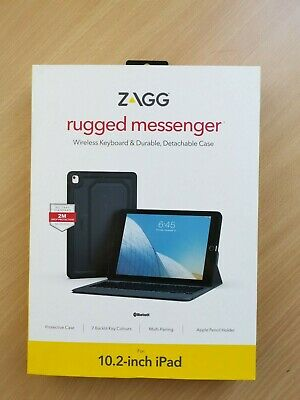 AU75 • Buy ZAGG Rugged Messenger Case Cover & Keyboard For 10.2 Inch IPad Backlight
