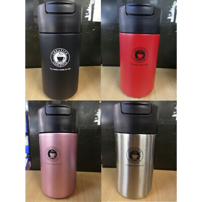 £7.99 • Buy Insulated Thermal Travel Mug Stainless Steel Flask Vacuum Thermos Hot+Cold 450ML