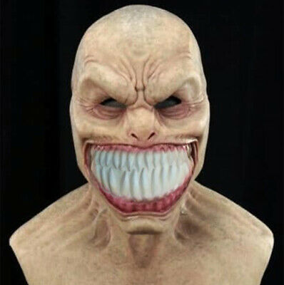 £12.41 • Buy Halloween Scary Full Head Mask Latex Cosplay Clown Face Cover Devil Horror Props