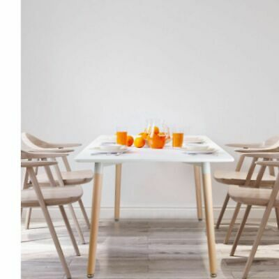 AU119 • Buy New Artiss Dining Table 6 Seater Replica DSW Eiffel Cafe Kitchen White 120cm