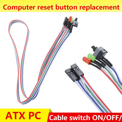 £1.15 • Buy ATX PC Computer Motherboard Power Cable Switch On/Off/Reset Button Replacement #