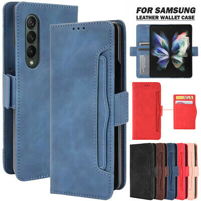 AU18.99 • Buy For Samsung Galaxy Z Fold 3 2 5G Magnetic Case Leather Wallet Cards Flip Cover