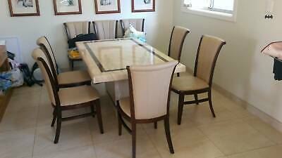 AU500 • Buy Dining Table (marble With 8 Beautiful Chairs)