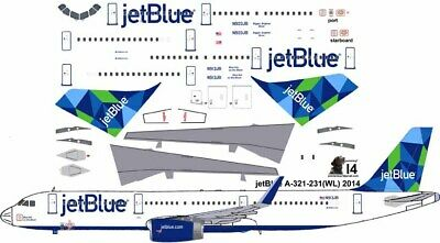 £7.26 • Buy JetBlue Prism Airbus A-321 Pointerdog7  Decals For Revell 1/144 Kit